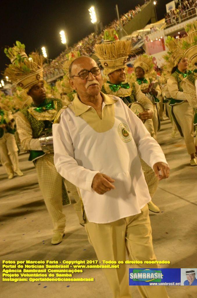 Mestre Wilson das Neves - Desfile do Império Serrano 2017 - Por Marcelo Faria - Agência Sambrasil Comunicações