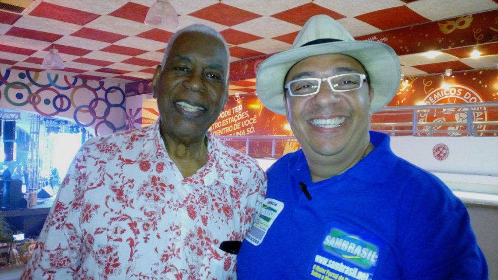 Haroldo Costa e o Jornalista Marcelo Faria