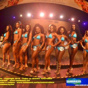 Semifinal do concurso para da Rainha do Carnaval 2018, define as oito finalistas