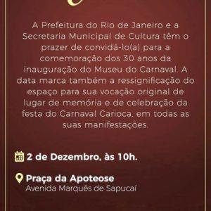 30 Anos do Museu do Carnaval na Praça da Apoteose dia (02)