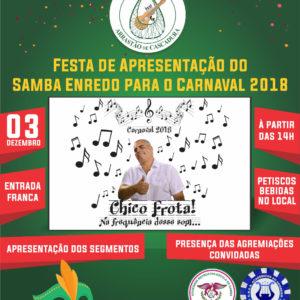 Arrastão de Cascadura apresenta seu samba enredo 2018