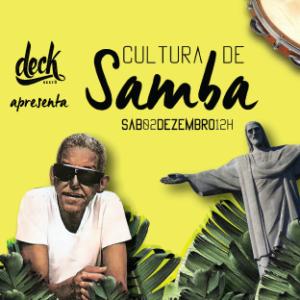 Grupo Cultura de Samba se apresenta no Deck Restô em Friburgo