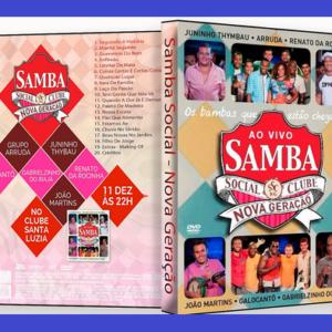 Gravação do DVD Samba Social – Nova Geração – Vol. 2, terá participações especiais de Zeca Pagodinho, Fundo de Quintal e Moacyr Luz