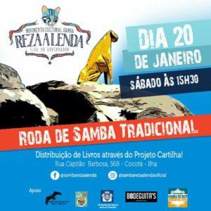 Roda de Samba Reza a Lenda neste sábado (20) – SAMBA E AMIZADE