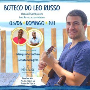 BOTECO DO LEO RUSSO é a roda de samba mais movimentada do Quebra-Mar na Barra da Tijuca