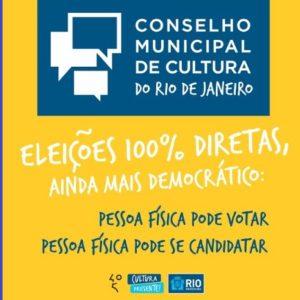 Último dia para cadastramento on line para votação do Conselho Municipal de Cultura