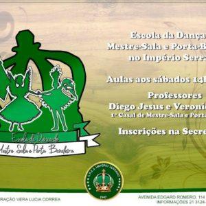 Informativo Social: Escola da Dança do Mestre-Sala e Porta-Bandeira no Império Serrano