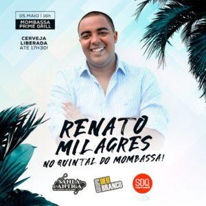 Renato Milagres comemorará aniversário com grande roda de samba no próximo sábado (05)