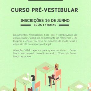 Mocidade oferece curso pré-vestibular gratuito em seu Centro Social e Cultural