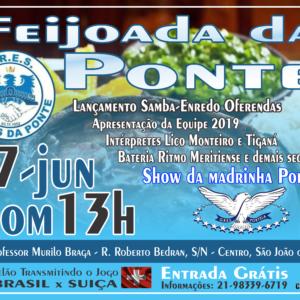 Unidos da Ponte – Lançamento do samba Oferendas e Portela são atrações da feijoada