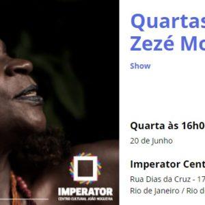 """Zezé Motta lançando o seu recomendado CD """"O Samba Mandou Me Chamar"""""""