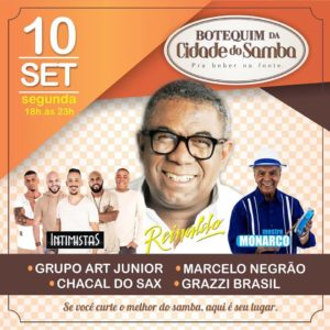 Botequim da Cidade do Samba está de volta e terá Monarco e Reinaldo, em setembro