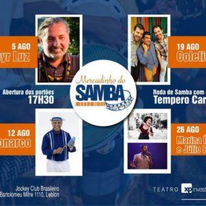 Monarco é o convidado do Projeto Mercadinho do Samba no Teatro XP Investimentos