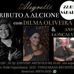 Dilma Oliveira homenageia Alcione