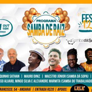 Programa Samba de Raiz comemora os seus 12 anos no Renascença Clube