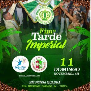 Império da Tijuca recebe Beija-Flor de Nilópolis e a Grande Rio, no Fim de Tarde Imperial