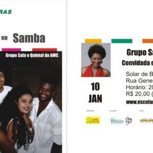 AMC no Choro e no Samba recebe Nilze Carvalho acompanhada pelo Grupo Sala e Quintal da AMC