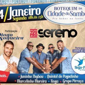 Botequim da Cidade do Samba terá participações de Diogo Nogueira, Quintal do Pagodinho e Beija-Flor