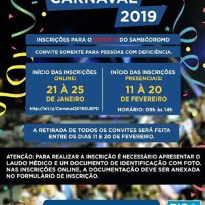 PREFEITURA DO RIO DISTRIBUI CONVITES PARA O SETOR 13 DO SAMBÓDROMO