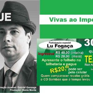 """Luiz Henrique apresenta o show """"Sambas que o tempo levou"""", no Teatro Dulcina"""