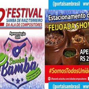 Final do Festival de Samba de Raiz e Terreiro será neste domingo (30)