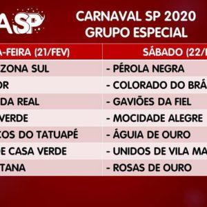 Liga SP realizou o sorteio da ordem dos desfiles do Carnaval 2020