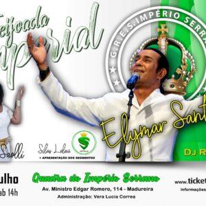Elymar Santos é atração da Feijoada do Império Serrano de julho