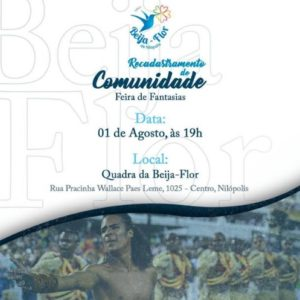 """Beija-Flor recadastra a comunidade e realiza """"Feirão"""" de fantasias"""