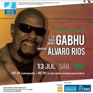 Gabhu, compositor de vários sucessos do verdadeiro pagode romântico e swingado se apresenta no Rio