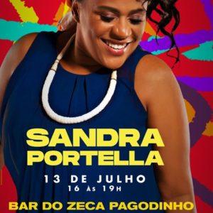 Sandra Portella se apresentará no Bar do Zeca Pagodinho