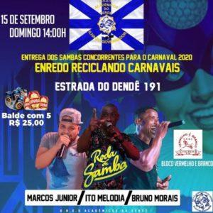 Acadêmicos do Dendê recebe sambas concorrentes em grande festa neste domingo