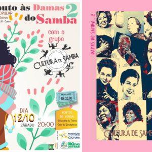 Cultura de Samba retorna a Rio das Ostras levando o espetáculo Tributo às Damas do Samba