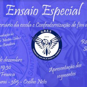 Vila Santa Tereza realiza ensaio especial e confraternização na sexta (20)