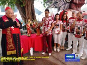 A imagem peregrina de São Sebastião visitou o Cacique de Ramos durante a Trezena de São Sebastião 2020