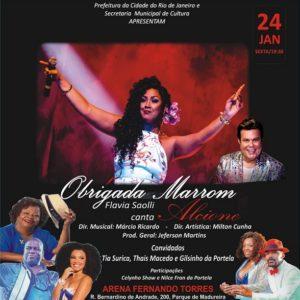 OBRIGADA, MARROM – Flavia Saolli canta Alcione