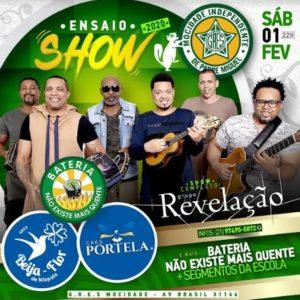 Mocidade recebe Grupo Revelação, Portela e Beija-Flor neste sábado (01)
