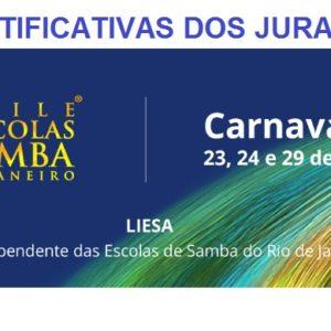 LIESA divulga mapas com as justificativas dos julgadores do Grupo Especial – Carnaval 2020