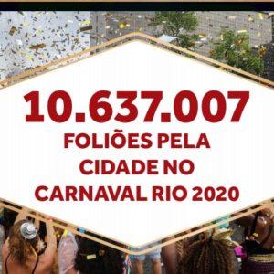 Riotur e Prefeitura do Rio consolidam os números altamente positivos do Carnaval Rio 2020