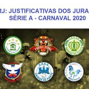 LIERJ: Divulga as justificativas dos jurados da Série A no Carnaval 2020