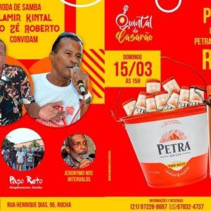 Quintal do Casarão estreia roda de samba neste domingo (15)