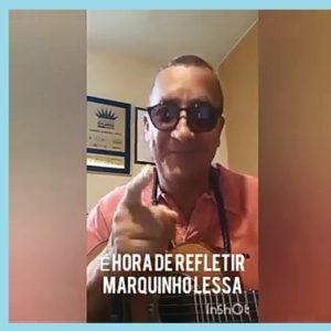 Marquinho Lessa viraliza na internet com o samba É hora de refletir