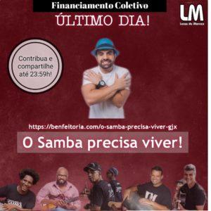 Sambista Lucas Moraes lança campanha beneficente em prol da classe artística
