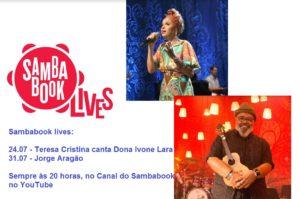 Sambabook Lives apresenta Teresa Cristina e Jorge Aragão