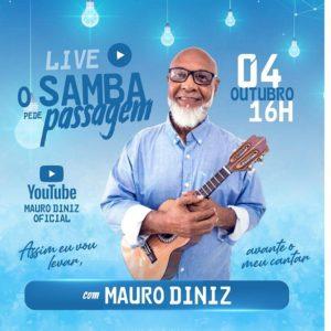 Mauro Diniz comemora 45 anos de carreira com a live O SAMBA PEDE PASSAGEM