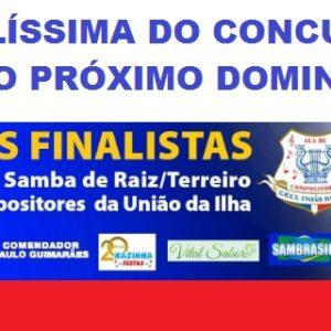 Grande final do concurso de Samba de Raiz/Terreiro da Ala de Compositores da União da ilha do Governador será neste domingo (01)