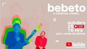 Tarde de domingo (25) com Live do Bebeto e participação especial de Xande e Arlindinho
