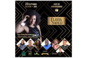 Flavia Saoli comemora aniversário com roda de samba no Rio Othon Palace Copacabana transmitida ao vivo
