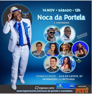 Noca da Portela realizará roda de samba neste sábado (14)