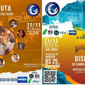 Beco do Rato realiza a final do concurso de samba-exaltação que tem como tema a valorização do subúrbio carioca