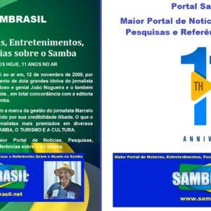 Portal Sambrasil completa 11 anos no Ar
